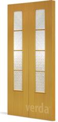 Межкомнатная дверь Дверь-гармошка VERDA Остекление 05 (складная)