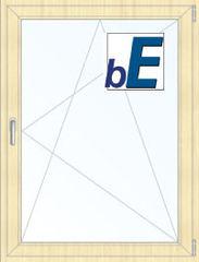 Окно ПВХ BluEvolution 92 800*1100 2К-СП, 6К-П, П/О ламинированное (светлое дерево)