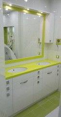 Зеленая мебель для ванной Мебель Фемели Вариант 11