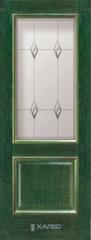 Межкомнатная дверь Межкомнатная дверь Халес Renaissance Триест ДО (зеленый+золото)