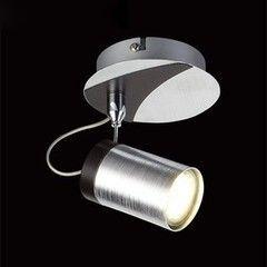 Настенно-потолочный светильник Евросвет 20044/1 хром/черный
