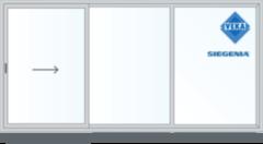 Дверь ПВХ Дверь ПВХ VekaSlide 3000*2300 VS70 Схема A разделенная на 1/3 и 2/3 с импостом