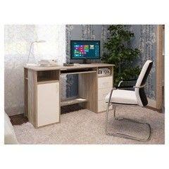 Письменный стол Интерлиния СТ-007 Дуб Сонома/Белый