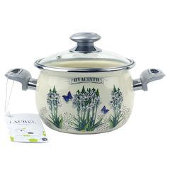 Кастрюля Кастрюля Laurel Кастрюля 2.5 л сферическая со стеклянной крышкой  Hyacinth