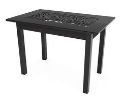 Обеденный стол Обеденный стол Red&Black Ажур квадро (Р-26, черный)