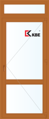 Дверь ПВХ Дверь ПВХ KBE 900*2400 одностворчатая с дополнительным окном сверху