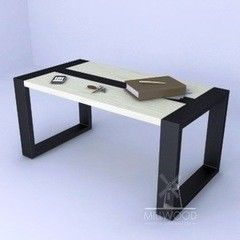 Журнальный столик MillWood Neo Loft-СТ-1 (дуб беленый, белый металл)