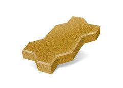 """Резиновая плитка Rubtex Брусчатка """"Волна"""" 220x130 (толщина 20 мм, желтая)"""