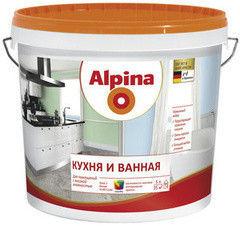 Краска Краска Alpina Кухня и ванная База 1 (10 л)