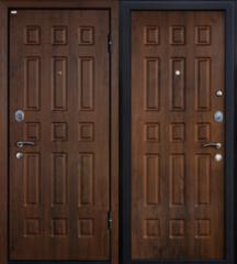 Входная дверь Входная дверь МеталЮр М3 (темный орех)