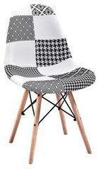 Кухонный стул Atreve Amy (пэчворк белый+черный/бук)