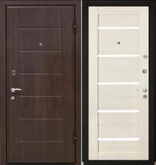 Входная дверь Входная дверь МеталЮр М7 (эшвайт мелинга, белое стекло)