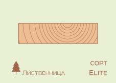 Доска обрезная Доска обрезная Лиственница 25*150 мм, сорт Elite