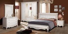 Кровать Кровать Timber Неаполь с обивкой T-528 ваниль