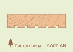 Террасная доска Лиственница 27*143, сорт АВ (STT 0/3)