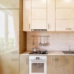 Кухня Кухня AA-Glass Пример 18 (пластик)