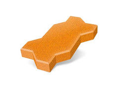 "Резиновая плитка Rubtex Брусчатка ""Волна"" 220x130 (толщина 20 мм, охра)"