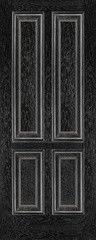 Межкомнатная дверь Межкомнатная дверь Халес Renaissance Плимут ДГ (черный+серебро)