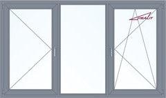 Алюминиевое окно Realit 2700*1600 П+Г+ПО