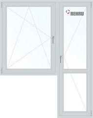 Окно ПВХ Rehau 1440*2160 2К-СП, 3К-П, П/О+П