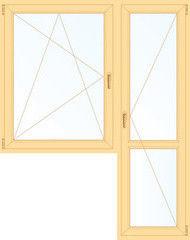 Деревянное окно Сосна 1440*2160, в/с, П/О+П
