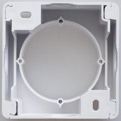 Электромонтажная коробка Schneider Electric для наружного монтажа Glossa, белый GSL000100
