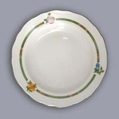 Cesky Porcelan Тарелка глубокая флажная Rokoko Слоновая кость 10002/S1009 (24см)