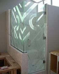 Душевая ширма Valtera Душевая кабина из стекла 8мм с пескоструйным рисунком