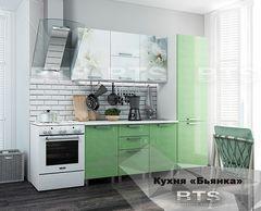 Кухня Кухня BTS Бьянка 2.1 (зеленые блестки)