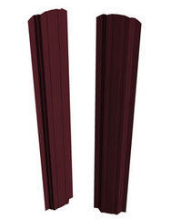 Забор Забор Скайпрофиль Штакетник П-97 двустороннее покрытие Пэ глянцевый RAL3005