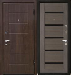 Входная дверь Входная дверь МеталЮр М7 (грей мелинга, чёрное стекло)