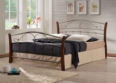 Кровать Кованая кровать Red&Black Патрисия 160x200 (Темный орех)
