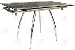 Обеденный стол Обеденный стол Metsteklo GN201 черный 1