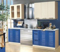 Кухня Кухня Артем-мебель Оля Соломка центр (синий / ваниль)