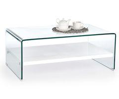 Журнальный столик Halmar Elia (прозрачный/ белый)