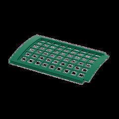 Водосточная система ТехноНиколь Verat Решетка желоба защитная 0.6м (зеленая)
