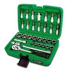 Столярный и слесарный инструмент Toptul Набор головок и бит GCAI3902