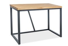 Письменный стол Signal Silvio (дуб натуральный/черный)
