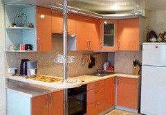 Кухня Кухня на заказ ЗОВ постформинг Латунь