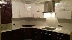 Кухня Кухня ЗОВ Пластик 3Д слива/белый