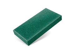 """Резиновая плитка Rubtex Брусчатка """"Кирпич"""" 200x100 (толщина 40 мм, зеленая)"""