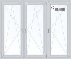 Окно ПВХ Окно ПВХ Rehau 2060*1420 1К-СП, 4К-П, П/О+П/О+П/О