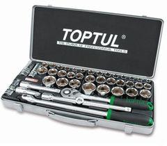 Столярный и слесарный инструмент Toptul Набор торцевых головок 43 предмета (GCAD4303)