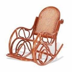 Кресло из ротанга Calamus Rattan 05/10B с подножкой (коньяк)