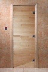 Дверь для бани и сауны Дверь для бани и сауны Doorwood Прозрачная 190x70 см