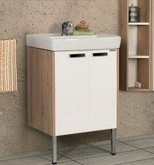 Мебель для ванной комнаты Акватон Тумба-умывальник Йорк 60 белый/дуб сонома (1A170201YOAD0)