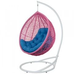 Кресло из ротанга Садовый дворик Веста розовый