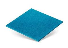 Резиновая плитка Rubtex Плитка 500x500 (толщина 16 мм, голубая)
