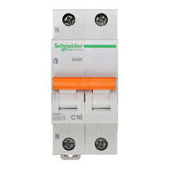 Schneider Electric Автоматический выключатель Домовой ВА63 1П+Н 16A C 4,5 кА 11213