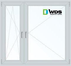 Окно ПВХ Окно ПВХ WDS Пластиковое окно 1460*1400 1К-СП, 4К-П, П/О+П